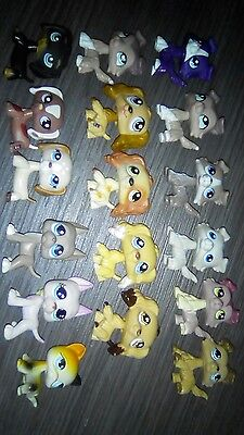 lot de 17 petshop rare colley teckel dog argentin chat europeen
