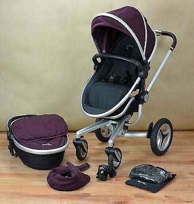 Silver Cross Surf 2 Travel System, Pram, Pushchair, Carrycot