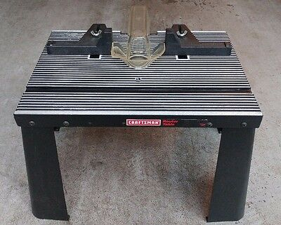 Vintage SEARS CRAFTSMAN ROUTER TABLE Metal   Good Condition!