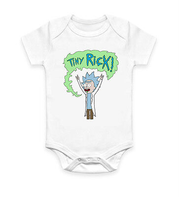Funny Tiny Rick Poster Baby Grow Body suit Baby Suit Ideal Gift Unisex 2925