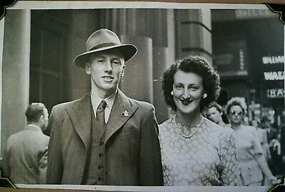 Vintage Australia 1940s photo album WW2 wedding fashion walking portraits
