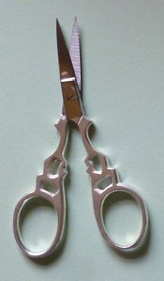 Good quality silver finish embroidery scissors 3.75 inch with sharp tips