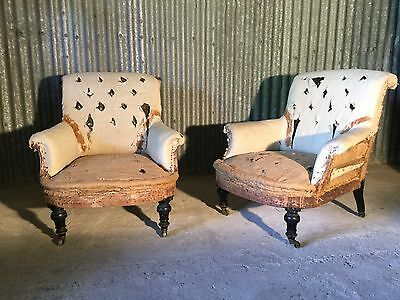 Pair antique French armchairs