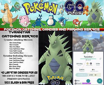 Pokemon-Go-Account-Service | Tyranitar-Dragonite Catching  100% Slash-Ban Free