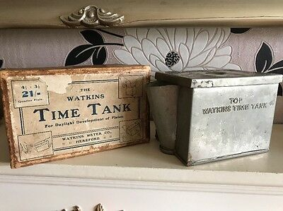 Vintage Watkins Time Tank Plated Brass For Photo Plates