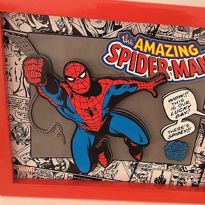 Marvel Comics~Spiderman~Wall Art~3D Picture~Boys Bedroom~Decor~New