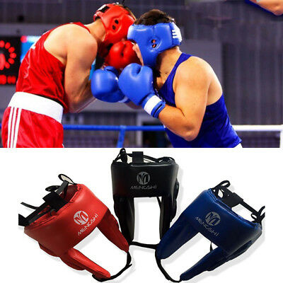 New Protector Headgear Boxing MMA UFC Fighting Head Guard Sparring Helmet