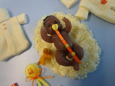 """ooak baby ....  Mini baby silicone ** KEN ** 2"""" ... created by LOU"""