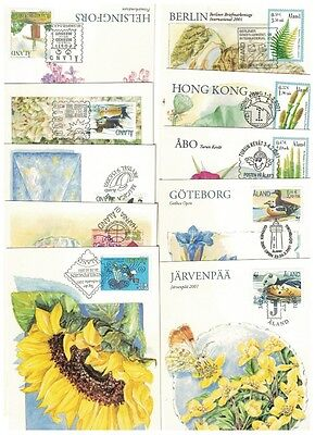 Finland - Åland 10 exchibitions cards ,2001, nice collection
