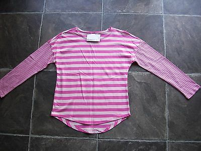 BNWT Girl's Pink Stripes Long Sleeve Cotton Knit Top Size 8, 10 & 12