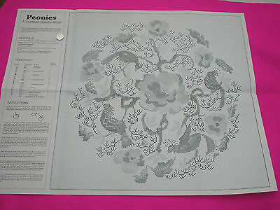 Collectable Tapestry/stitch Chart 'peonies' Full Instructions