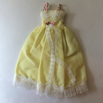 Attractive Faerie Glen Yellow Ball Gown Dress vintage doll clothes fits Sindy
