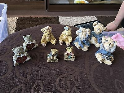 Various Teddy Figurines 4 Different Sets