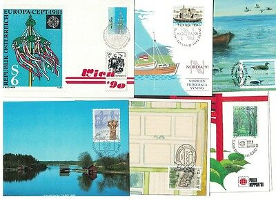 Finland - Åland 12 exchibitions cards ,1986-12, nice collection