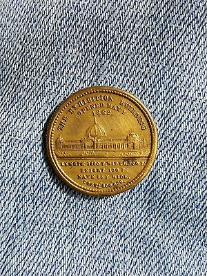 The Exhibition Building Opened May 1 1862 Queen Victoria coin