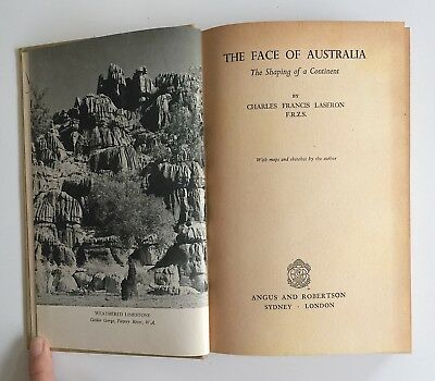 The Face of Australia The Shaping of a Continent 1953 Charles Laseron 1st Ed HC