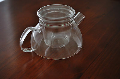 New Clear Glass Teapot with infuser 600ml Tea Pot