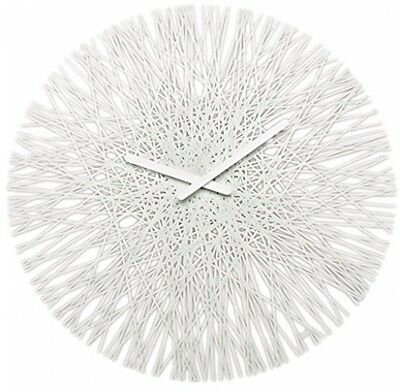 Koziol SILK Wall Clock, Solid White UK POST FREE