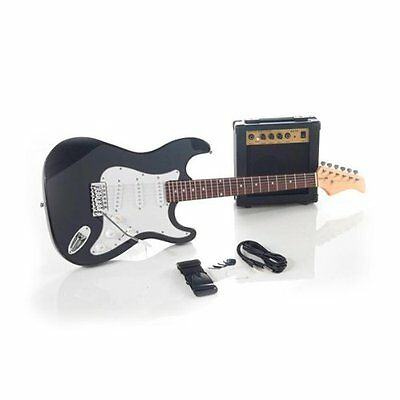 NEW INTEMPO ELECTRIC GUITAR AND 10W AMPLIFIER Complete Package Kit + BAG STRAP