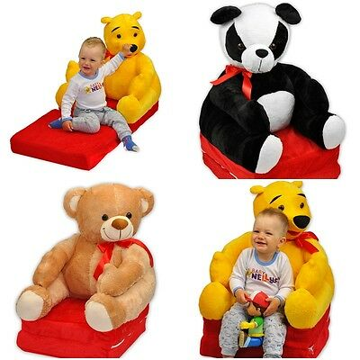 Children Plush Teddy Bear Armchair Kids Baby Couch Animal Large Sofa Chair