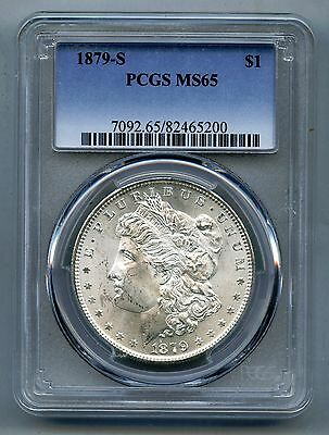 1879 S Morgan Silver Dollar -- PCGS MS 65 -- Mint State!  Free Shipping in USA!