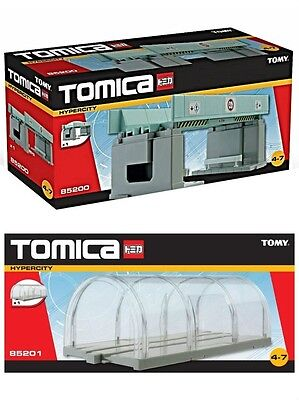 Tomy Tomica Overhead Crossing Bridge 85200 & Clear Tunnel 85201 - New
