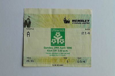 Littlewoods Used Cup Final Ticket Stub 1990  Oldham V Nottingham Forest