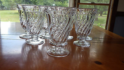 Fostoria Colony Ice Tea Glasses Tumblers Water Goblets Clear Glass 8 10 oz stems