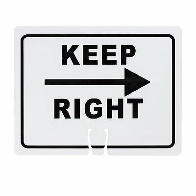 "RK Safety Traffic Cone Sign ""Keep Right"", 18"" Width x 14"" Height, Black on White"