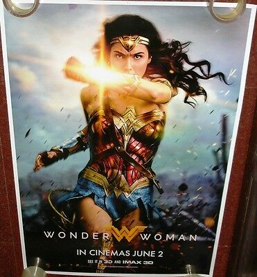 Wonder Woman (2017) Original Ds Poster Double Sided