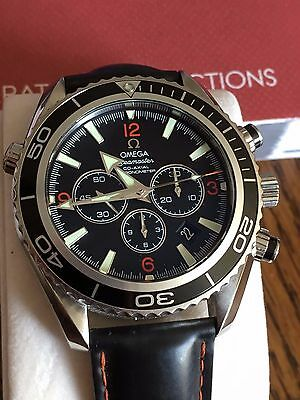 Omega Seamaster Planet Ocean Automatic Chronograph Watch  Box & Papers 229105182