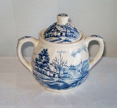Blue River Nasco Lidded Sugar Bowl (Japan)