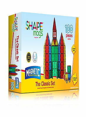 Shape Mags magnetic tiles - Classic set - 100 pieces - by Magnetic Stick N Stack