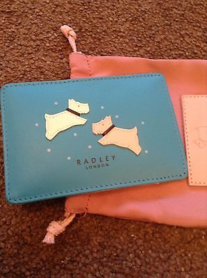 Radley Turquoise Leather Credit/Travel Holder RRP £22