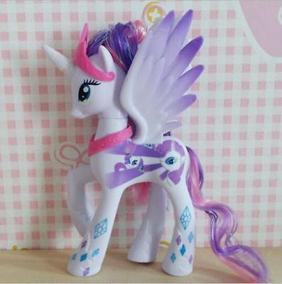 14cm PVC Rarity My Little Pony Doll  Action Figure Toy Kids Gift