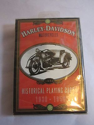 Harley Davidson Motorcycles Historical Playing Cards 1930-1950 Unopened ca 1997