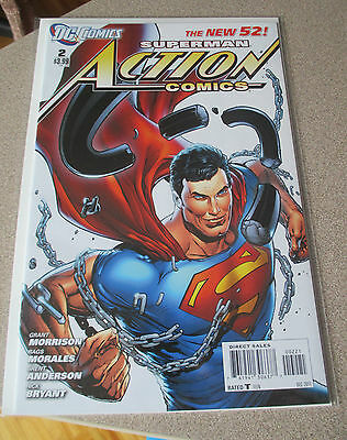 Action Comics #2 Dc New 52  Variant Will Moss Cover Nm Grant Morrison