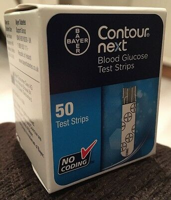 Bayer Contour Next Blood Glucose Test Strips x 50 - Brand New In Box