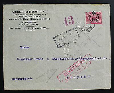 Palestine, Holyland, Jerusalem, Printed to Private Order, Stationary Cover #m104