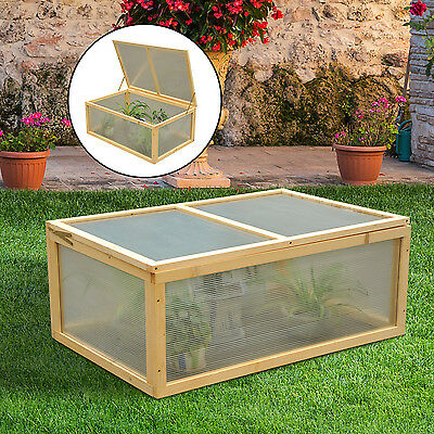 Outsunny Outdoor Wooden Cold Frame Growhouse Garden Mini Greenhouse Planting Box