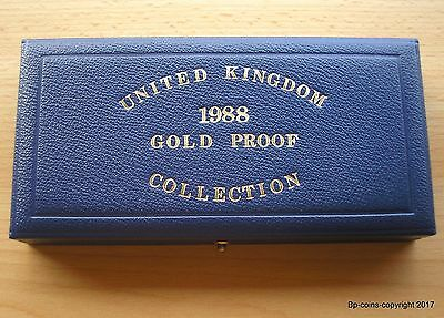 ROYAL MINT 1988 GOLD PROOF BLUE PRESENTATION BOX HOLDS THREE COINS (empty).