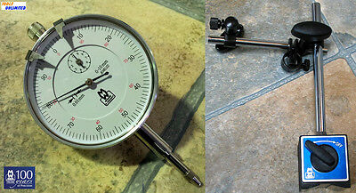 Moore & Wright 0 - 10 mm Dial Indicator Gauge & Magnetic Dial Indicator Stand