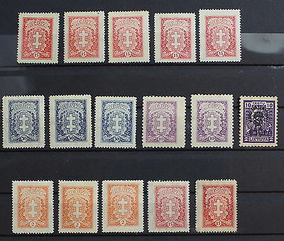 Lithuania, Russia, Definitives, Dif' Watermarks, Collection of  Stamp #m98