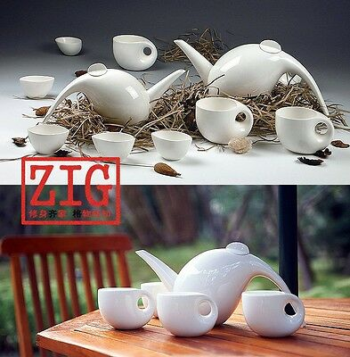 Modern design Porcelain tea set Contemporary Art Decor ceramic coffee set 5 pcs