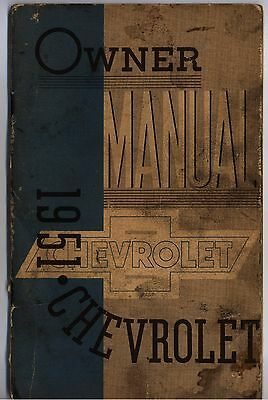 1951 Chevrolet Owner Manual Chevy Paperback Illustrated Used Vintage