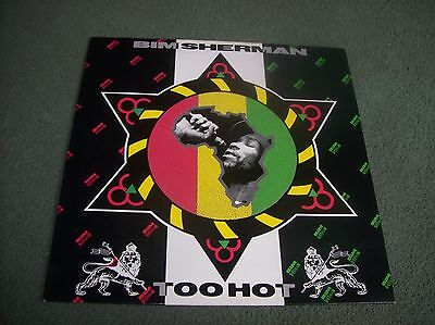 Bim Sherman - Too Hot LP first UK issue from 1990 on Century Records CENTURY 500