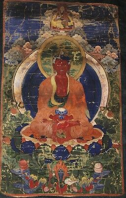Amazing 18th Century Mongolian Tibetan Buddhist Thangka