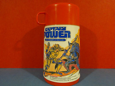 vintage (1987) CAPTAIN POWER &  Soldiers of the future lunch box Thermos Aladdin