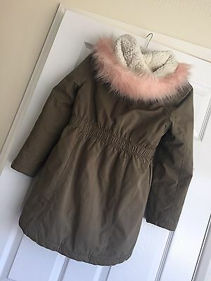 girls coat age 9-10 years debenhams bluezoo, khaki