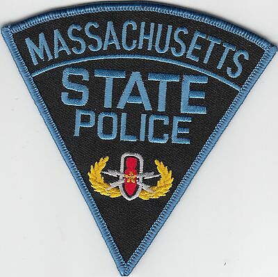 Massachusetts State Police Bomb Squad Shoulder Patch Explosives Ma